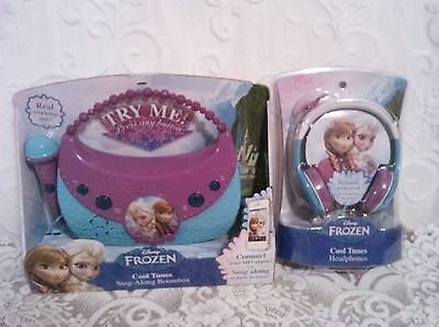 Disney Frozen Cool Tunes Sing Along Boombox And Headphones With Real Mic    Nib