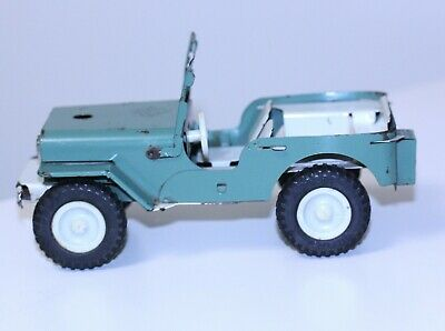 vintage Ites diecast metal Jeep CLOCKWORK folding windshield # 6-7-16 on tires  for sale  Shipping to India