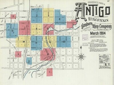 Antigo,  Wisconsin~Sanborn Map© sheets~69 high resolution PDF files in color