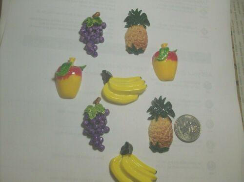 8 LARGE CELLULOID FRUITS-----1950,s-------VINTAGE