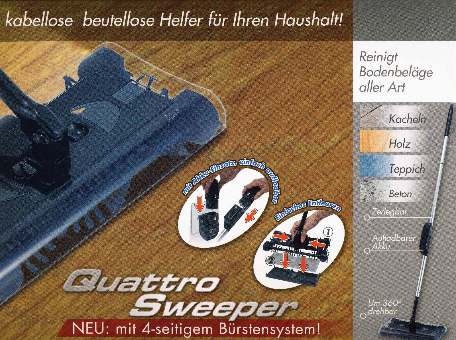Quattro Sweeper Akku-Kehrbesen 4 tlg.