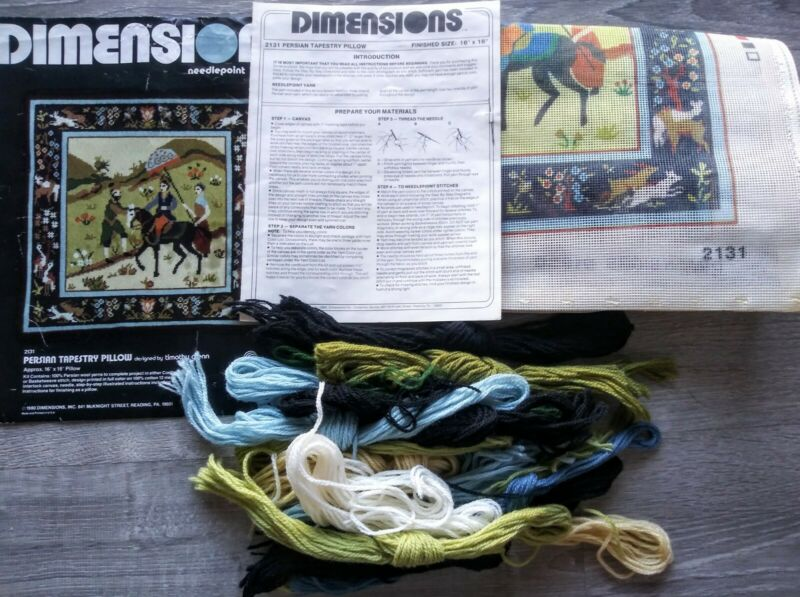 Dimensions Needlepoint Kit. Persian Tapestry #2131 Vintage 1980