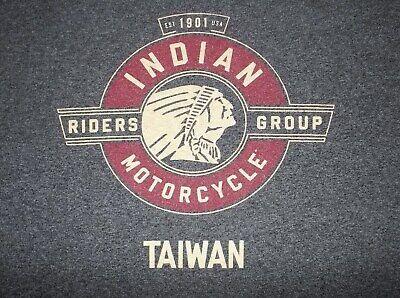 RARE Vtg INDIAN MOTORCYCLE Riders Group TAIWAN Member Biker T-SHIRT M~No Harley