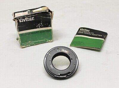 Vivitar TX Lens Mount Adapter For Nikon F and EL Series Camera