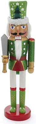 [Kurt Adler Nutcracker - Red & Green with Tree Hat Design Christmas Nutcracker</Title]