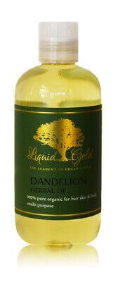 - 8 oz Liquid Gold Dandelion Herbal Oil Pure Organic Skin Hair Health Cold Pressed