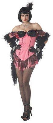 Costume Cabaret (Cabaret Artist Sexy Flapper Halloween Costume Pink & Black Adult Large)
