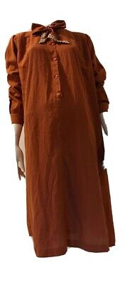 80s Dresses | Casual to Party Dresses Authentic Vintage 1980's Brown Tie Neck Dress $26.21 AT vintagedancer.com