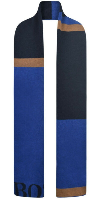Hugo Boss Boys 10-12 Years Wool Blend Knitted Scarf NWT NEW Designer