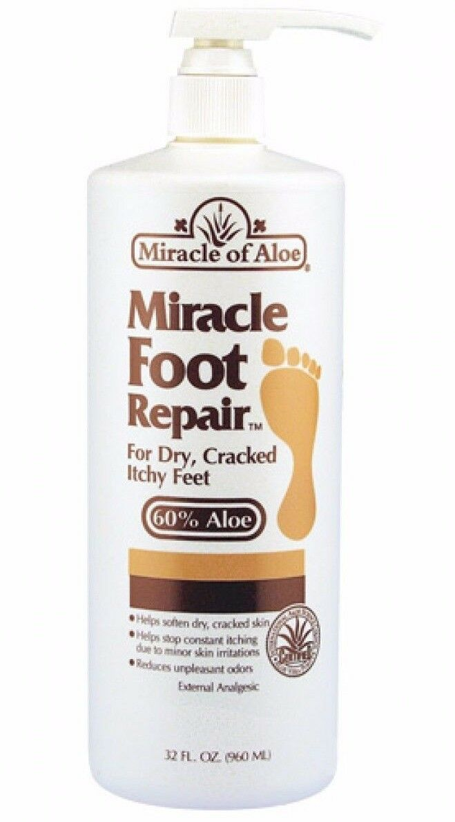 Miracle Foot Repair Cream 32 ounce bottle with pump with 60%