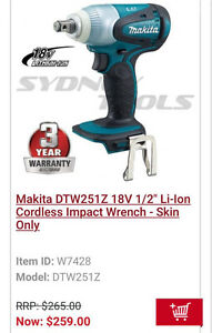 Makita 18v impact wrench brand new Cartwright Liverpool Area Preview