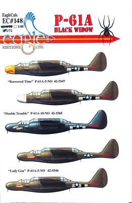 EagleCals Decals 1/72 NORTHROP P-61A BLACK WIDOW for sale  USA