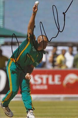 SOUTH AFRICA * RORY KLEINVELDT SIGNED 6x4 ACTION PHOTO+COA