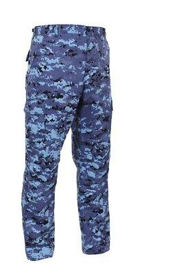 Sky Blue Digital Camo Military BDU Cargo Fatigue Pants 99620 Rothco  Bdu Sky Blue Camo