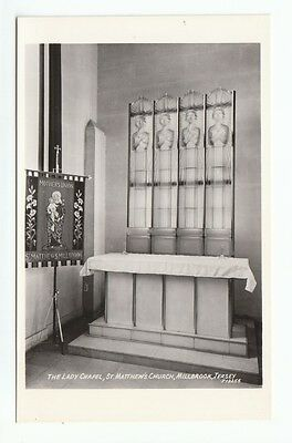 Lady Chapel St Matthews Church Millbrook Jersey Real Photograph Photoway