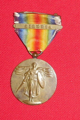 WW1 US VICTORY MEDAL WITH SIBERIA BAR