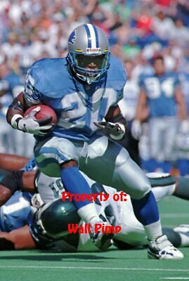 BARRY SANDERS DETROIT LIONS Poster Print 24x36 WALL Photo B (Barry Sanders Wall)
