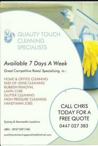 Quality Touch Cleaning Specialists Newcastle Newcastle Area Preview