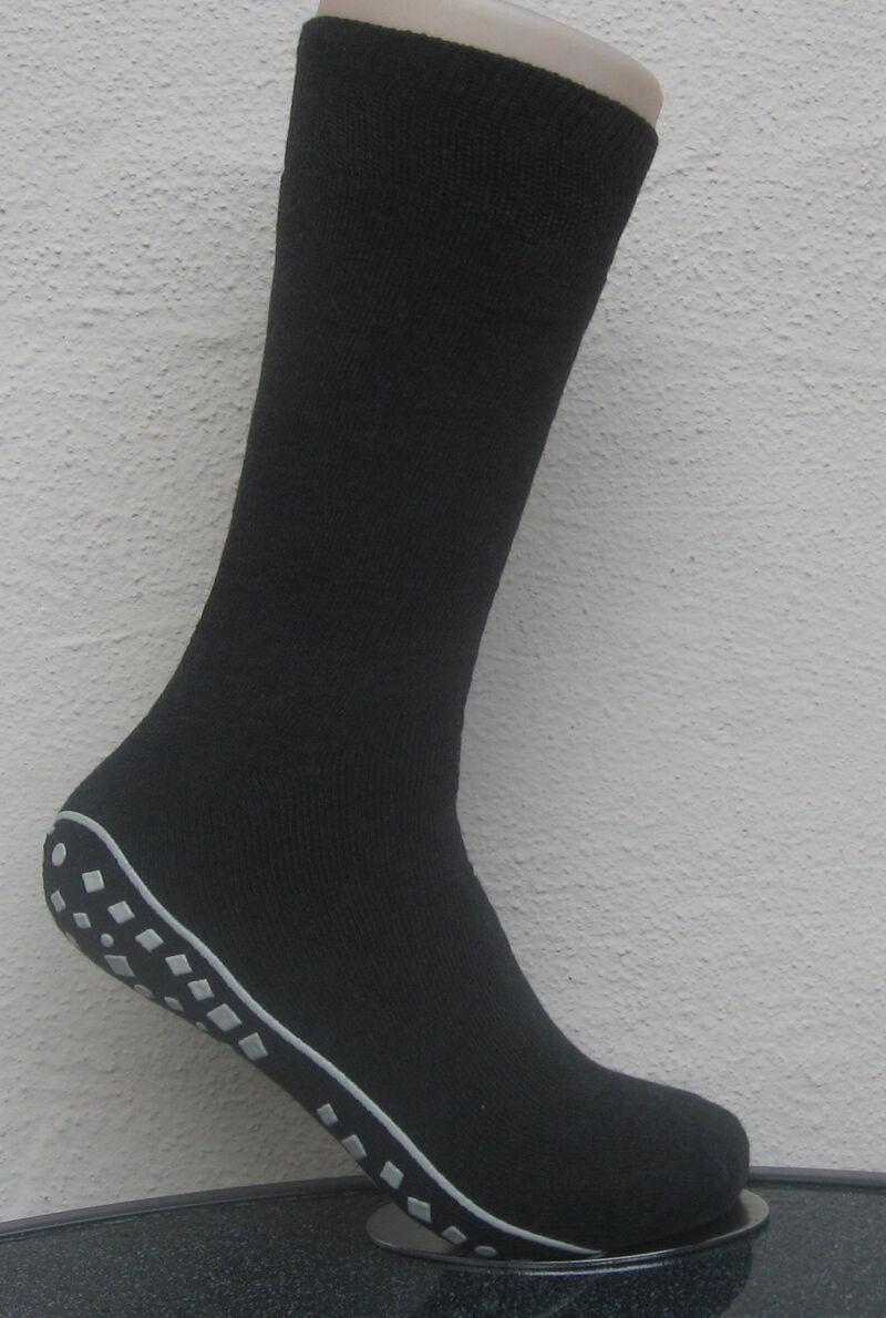 1 Paar Herren Stoppersocken Socken mit rutschfester ABS Sohle grau 39 bis 46
