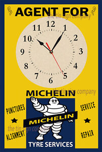 MICHELIN TYRES WALL CLOCK. GREAT FOR GARAGE, WORKSHOP, MANCAVE ETC.