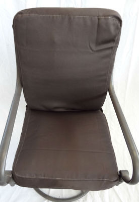 Outdoor Pool Porch Lawn Patio Table Chair Cushion Covers, Set of 6 brown twill. ()