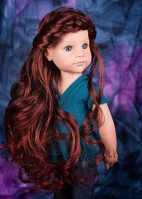 Beautiful Custom OOAK Gotz Doll blue eyes long red hair, journey doll outfit