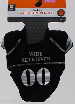 Black & Gray Wide Retriever Dog Tee Shirt Size XSmall up to 10 lbs Length 8 in