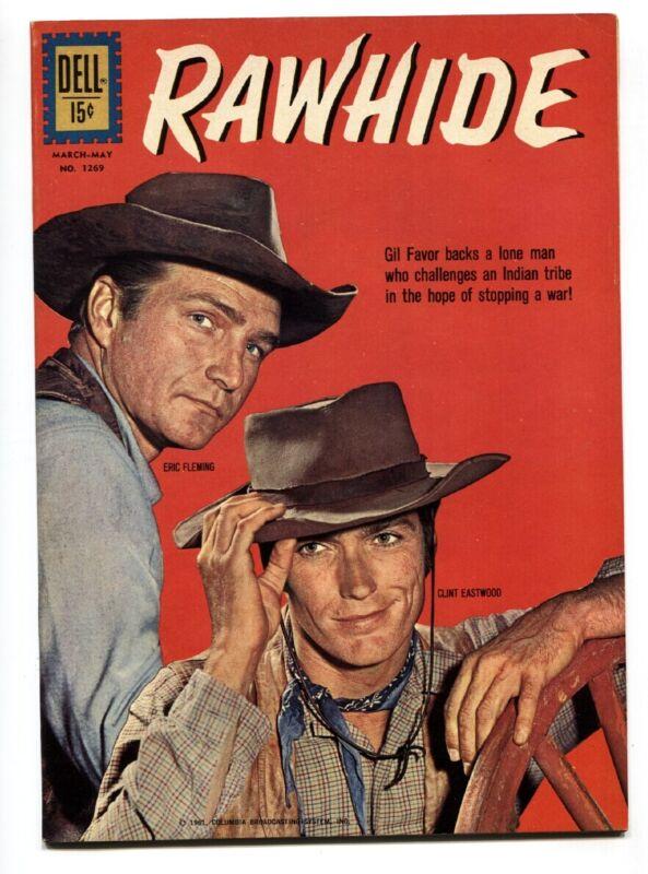 Four Color Comics #1269- Rawhide Clint Eastwood photo cvr-VF/NM