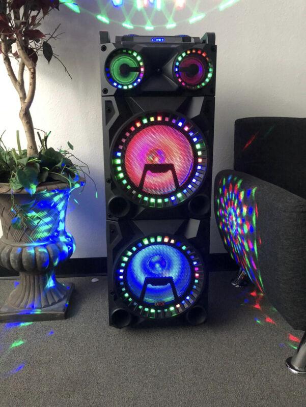 18500 Watts Rechargeable Bluetooth Karaoke Speaker With Four Disco Lihts