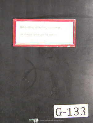 Gisholt Ujp Dynetric Balancing Machine Operations And Maintenance Manual 1945