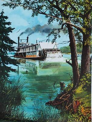 Vintage art  Riverboat