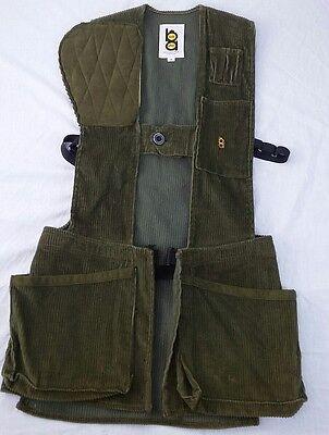 Mens Vtg Bob Allen Brown Skeet Trap Hunting Shooting Vest Small Corduroy USA