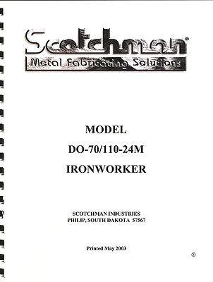 Scotchman D070110-24m Ironworker Operations Manual