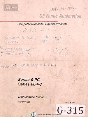 Fanuc Ge 0-pc Oopc Cnc Automatic Maintenance-operations Program Manual 1991