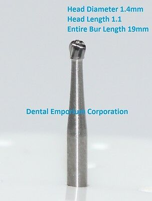 Dental Carbide Burs Fg 4 Round For High Speed Handpiece 10 Per Package