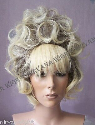 Cone Beehive Drag? Curls Julie Wig, Black, Brown, Pink, Blonde, Auburn U Choose - Beehive Wig Black