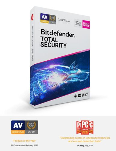Bitdefender Total Security 2020 1 Year 1 Devices EmaiI Code (Gift Included)