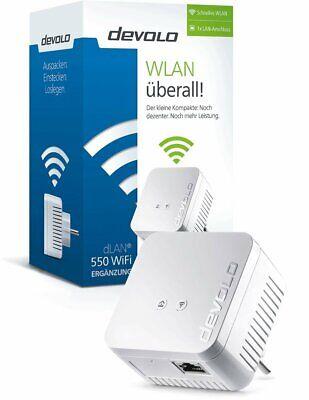 devolo 9622 dLAN 550 WiFi Powerline (500 Mbit/s Internet über die Steckdose,...