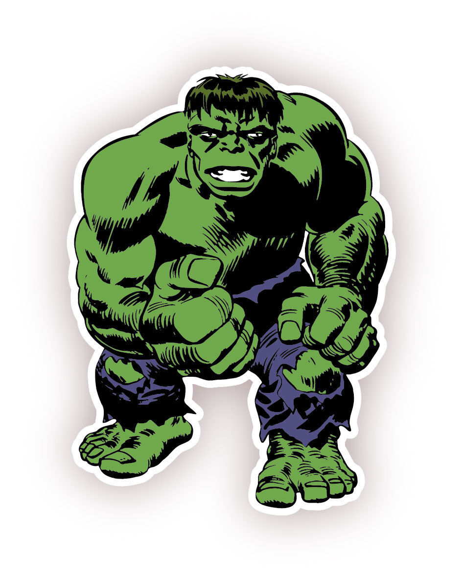 Home Decoration - The Incredible Hulk Cartoon  Sticker Decal 5""