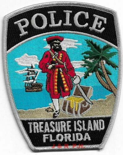 "Treasure Island, Florida  (4"" x 5"" size)  shoulder police patch (fire)"
