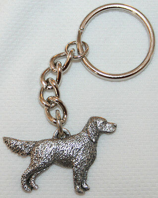 ENGLISH SETTER Dog Fine Pewter Keychain Key Chain Ring Fob
