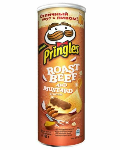 Pringles Roast beef and Mustard Potato chips 165g NEW