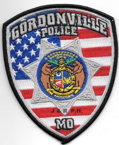 "Gordonville, Missouri (4"" x 5"" size) shoulder police patch (fire)"