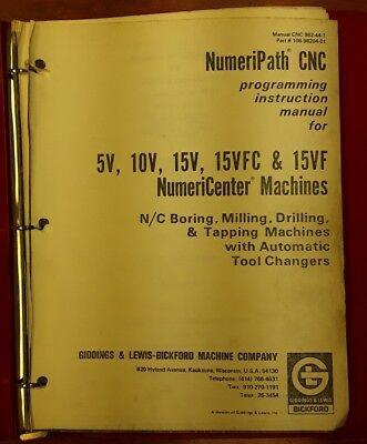 Giddingslewis Cnc 982-44-1 Programming Instruction Manual
