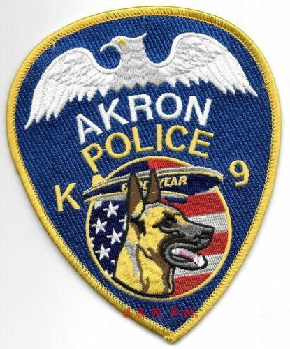 "Akron K-9, Ohio  ""Goodyear Blimp""  shoulder police patch (4"" x 5"" size) (fire)"