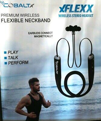 New Sealed Box COBALT XFLEXX WIRELESS Bluetooth Headsets Stereo Sports, Running
