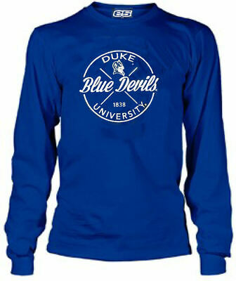 Duke Blue Devils Men's Royal University Long Sleeve T Shirt Duke Blue Devils T-shirt