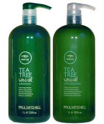 Paul Mitchell Tea Tree Special Liter Duo Shampoo and Conditioner 33.8 Oz. NEW