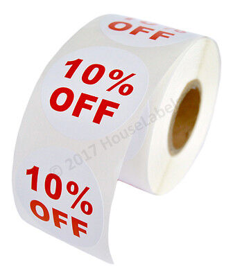100 Rolls Of 10 Off Discount Labels 500 Labelsroll 2.5 Diameter Bpa Free