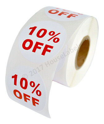 1 Roll Of 10 Off Discount Labels 500 Labelsroll 2.5 Diameter Bpa Free